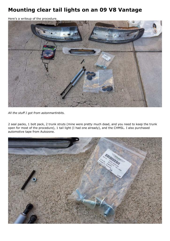 Diy Mounting Clear Tail Lights Pdf 4 03 Mb Diy Manuals Do It Yourself English En