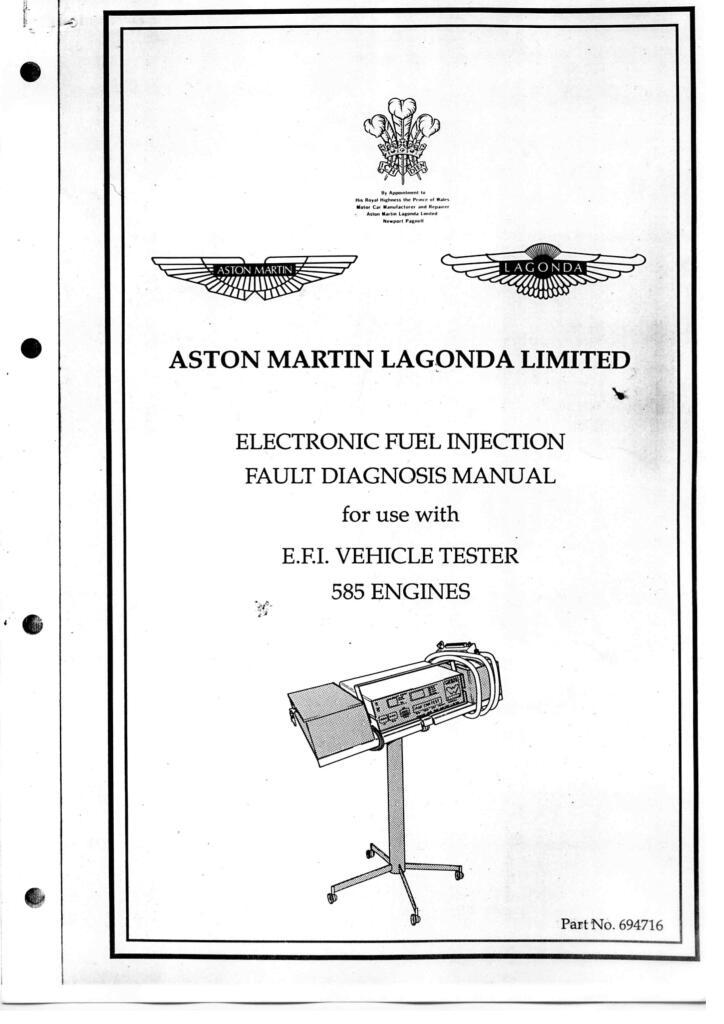 Lagonda Workshop Electronic Fuel Injection Fault